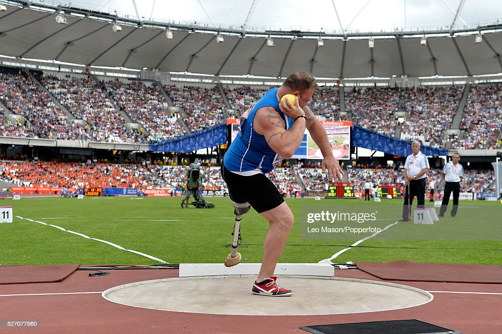 British Athletics Sainsburys Para Challenge The Stadium Queen Elizabeth Olympic Park London UK Shot Put Men