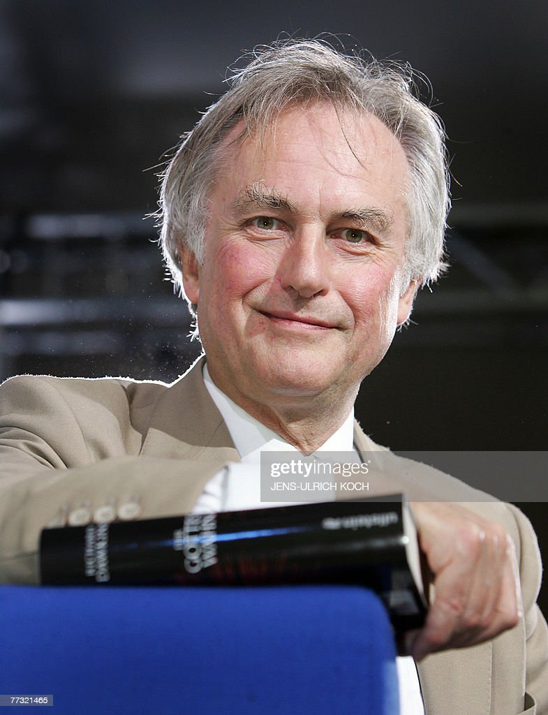 British author and scientist Richard Dawkins poses for a photo at the Frankfurt Book Fair 13 October 2007. The fair's guest of honour this year is Catalan culture. The fair takes place from 10 to 14 October 2007.