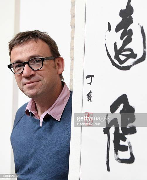 British author David Nicholls poses during the Letterature 2012 Festival Internazionale di Roma at Casa delle Letterature on May 28 2012 in Rome Italy