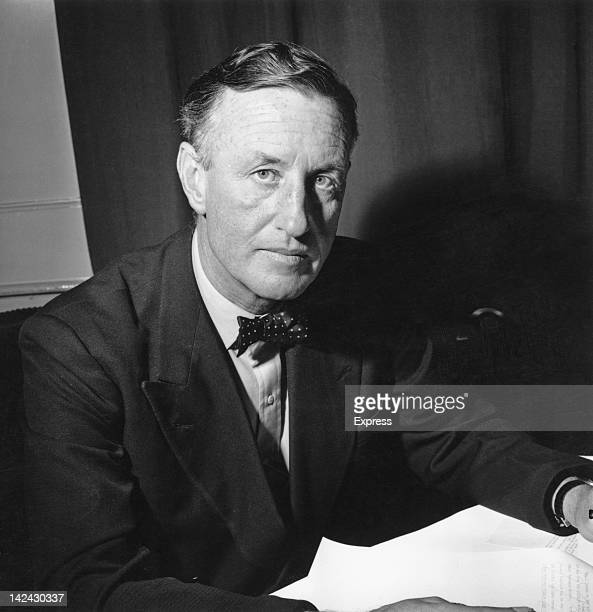 British author Ian Fleming creator of the James Bond series of spy novels in his study 24th March 1958