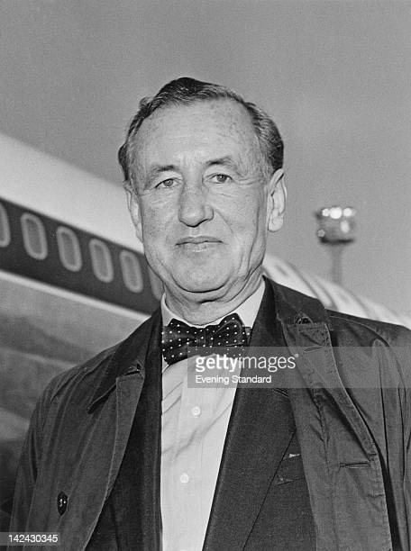 British author Ian Fleming creator of the James Bond series of spy novels at London Airport 16th January 1964