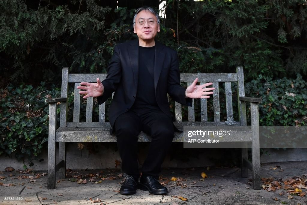 British author Kazuo Ishiguro holds a press conference in London on October 5, 2017 after being awarded the Nobel Prize for Literature. Kazuo Ishiguro, the 62-year-old British writer of Japanese told British media that winning the 2017 Nobel Prize for Literature today was a 'magnificent honour' and 'flabbergastingly flattering'. / AFP PHOTO / Ben STANSALL
