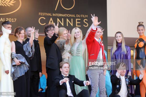 British author Neil Gaiman Australian actress Nicole Kidman US actress Elle Fanning British costume designer Sandy Powell actress Eloise Smyth...