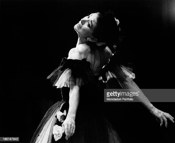 British ballet dancer Margot Fonteyn dancing in the pas de deux Marguerite and Armand at La Scala Theatre The ballet was choreographed by British...