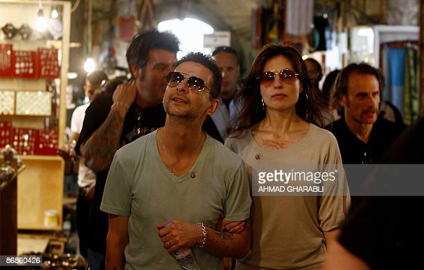 British band Depeche Mode lead singer Dave Gahan and his wife Jennifer visit Jerusalem�s Old City with band members on May 8 2009 The British band...