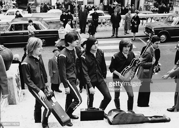 British band 'The Renegades' taking part in the traditional Sanremo Song Festival January 25th 1966