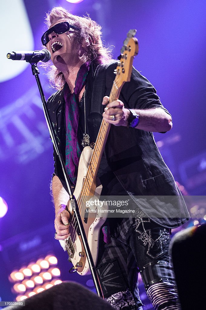 British bassist and vocalist Glenn Hughes performing live onstage during the Marshall 50 Years Of Loud anniversary concert at Wembley Arena, September 22, 2012.