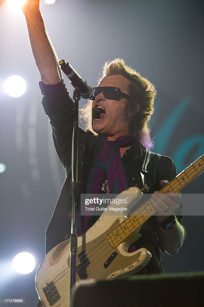British bassist and vocalist Glenn Hughes performing live onstage during the Marshall 50 Years of Loud Live anniversary concert at the Wembley Arena, September 22, 2012.