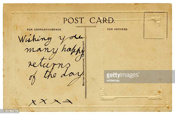 British birthday greetings postcard