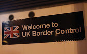 British Border Control Sign View