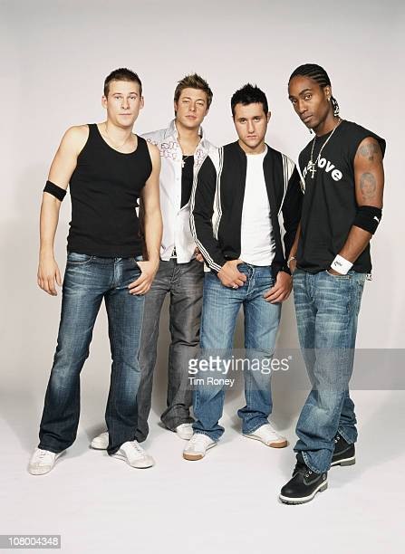 British boyband Blue 2003 They are Simon Webbe Lee Ryan Duncan James and Antony Costa