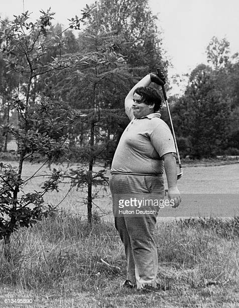 British Boys Golf Champs Ray Nicholas of Sudbury seen letting off steam after fluffing a shot from a dad lie at the 11th at Blairgowrie Perthshire...