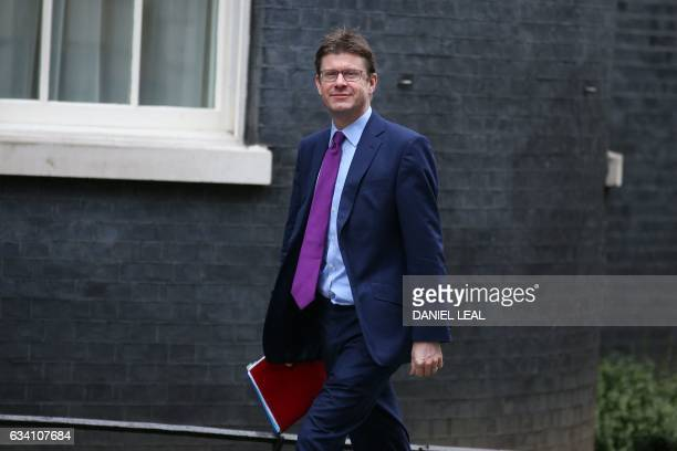 British Business Energy and Industrial Strategy Secretary Greg Clark arrives for the weekly meeting of the cabinet at 10 Downing Street in central...