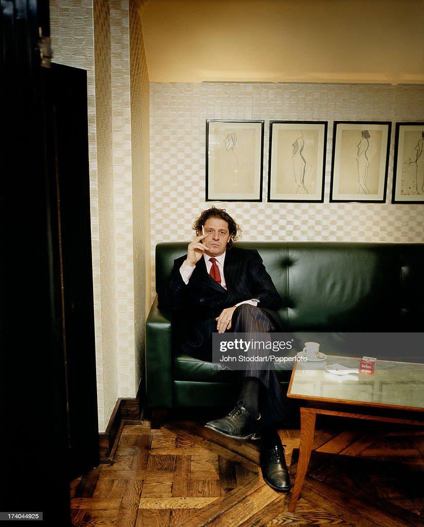 British celebrity chef Marco Pierre White, circa 1988.