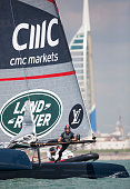 British challenger to the 35th America's Cup Land Rover BAR skippered by Ben Ainslie Bowman Ed Powys during The 35th America's Cup Louis Vuitton...