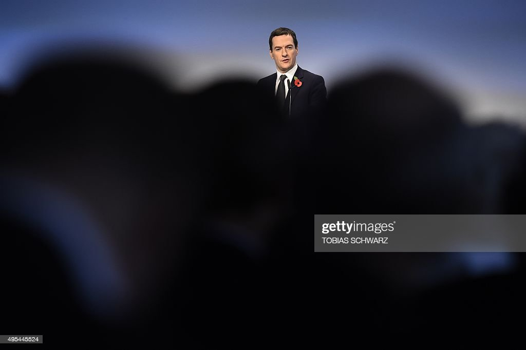 British Chancellor of the Exchequer George Osborne delivers a speech at a meeting of the BDI in Berlin November 3 2015 AFP PHOTO / TOBIAS SCHWARZ
