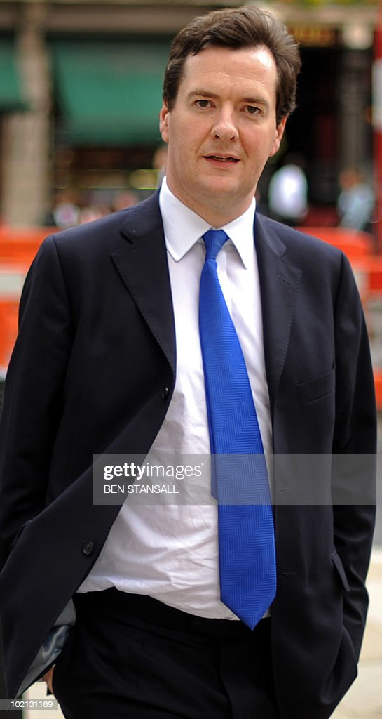 British Chancellor of the Exchequer, George Osborne walks across Whitehall after leaving the House of Commons in central London on June 8, 2010. An independent body set up by Britain's new coalition government will publish its first economic forecasts Monday, it announced as finance minister Osborne urged tough action to slash debt. The Office for Budget Responsibility said Tuesday it would publish its forecasts at the start of next week ahead of an emergency budget on June 22 due from Chancellor of the Exchequer Osborne.