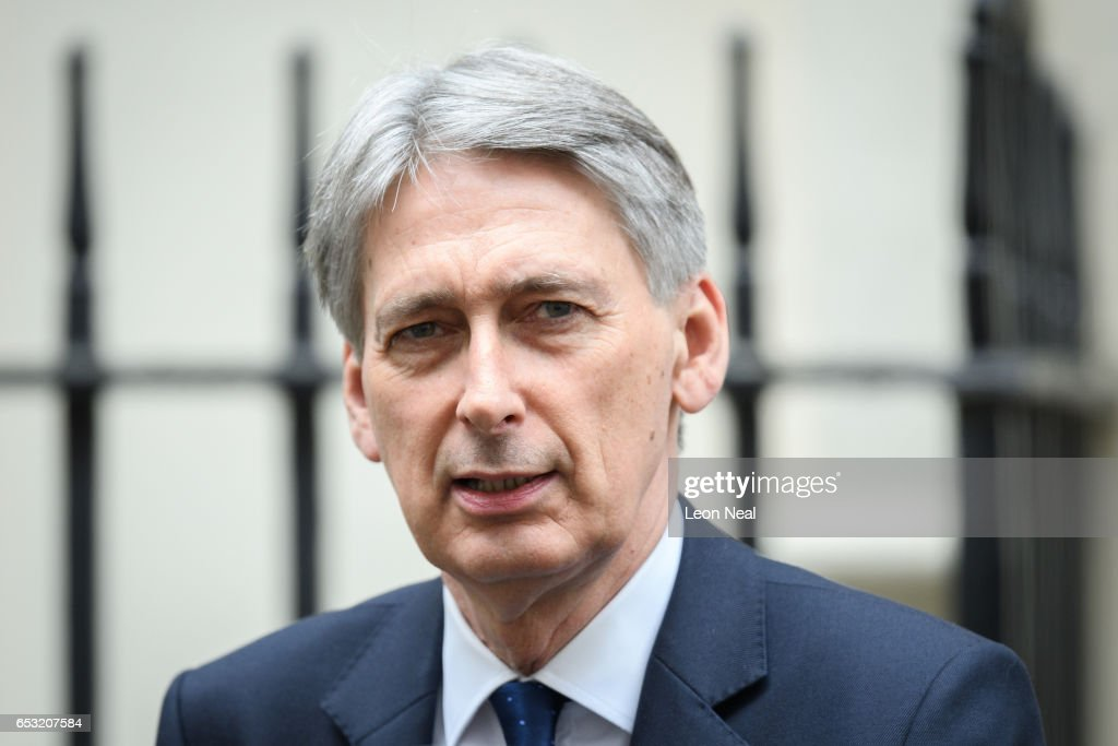 British Chancellor of the Exchequer Philip Hammond leaves number 11 Downing Street, ahead of Prime Minister Theresa May's statement on the EU Council meeting to the House of Commons on March 14, 2017 in London, England. Following a vote in Parliament, British Prime Minister Theresa May now has the power to trigger Article 50, formally beginning the process that will see Britain leave the European Union.