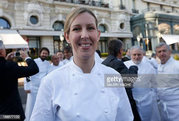 British chef Clare Smyth poses among 240 chefs from 25 countries representing five continents and 300 stars ranked in the Michelin gastronomy guide...
