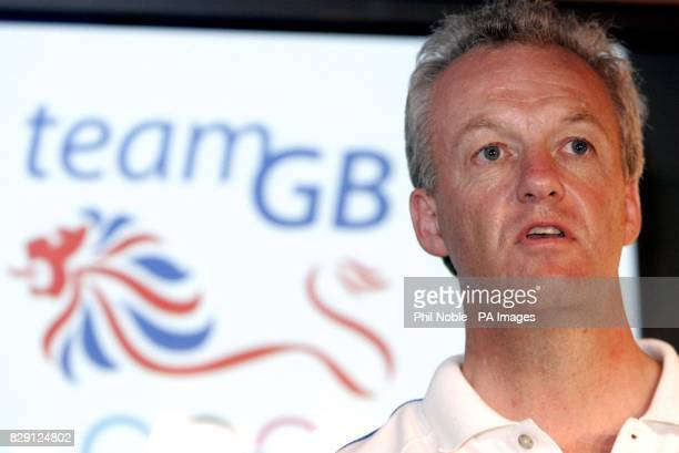 British Chef de Mission Simon Clegg speaks to the media