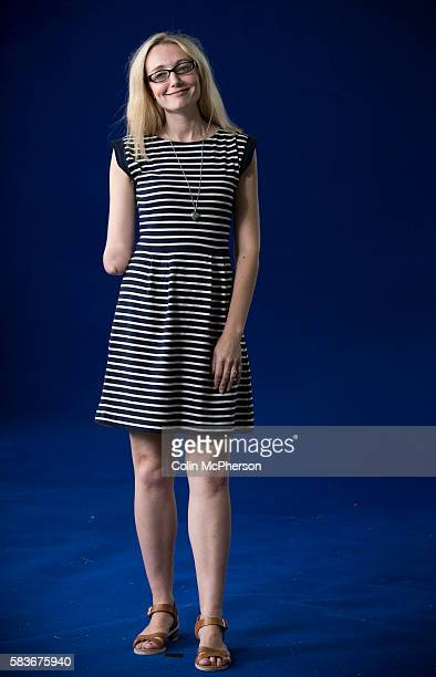 British children's television presenter and playwright Cerrie Burnell pictured at the Edinburgh International Book Festival where she read from her...