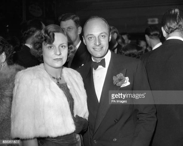 British cinematographer Jack Cardiff with his wife Julia at the premiere of his latest film 'The Magic Box' in London
