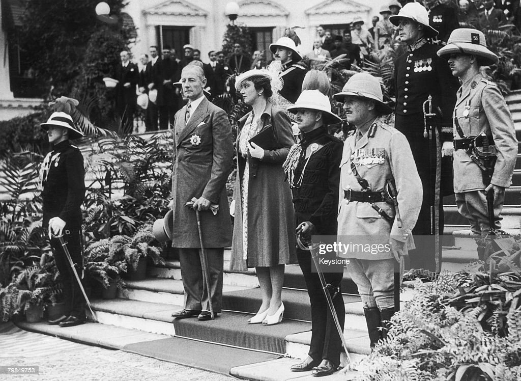 British colonial administrator Sir John Arthur Herbert and his wife Mary on arrival in Calcutta where Herbert will take up his new post of Governor...