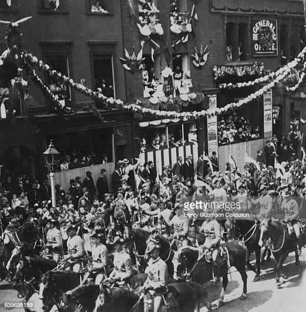 British colonial troops in Queen Victoria's Diamond Jubilee procession on Borough High Street London on their return to Buckingham Palace after a...