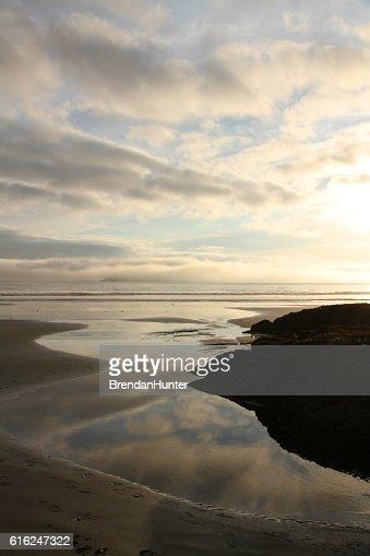 British Columbia Sunset : Foto de stock