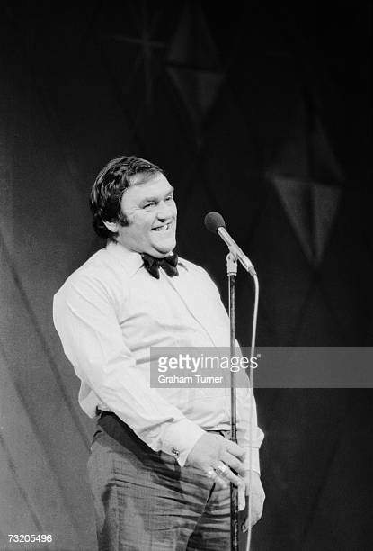British comedian and writer Les Dawson on stage 1979