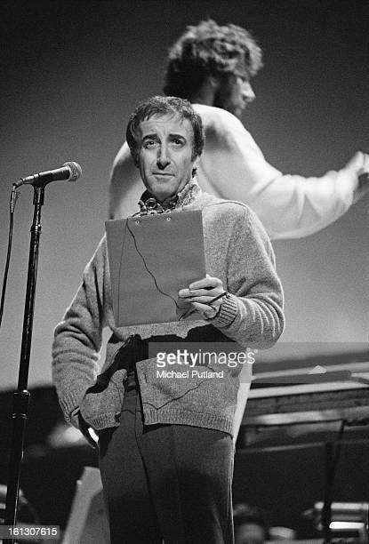 British comic actor Peter Sellers at rehearsals for the stage version of the Who's rock opera 'Tommy' at the Rainbow Theatre London 9th December 1972...