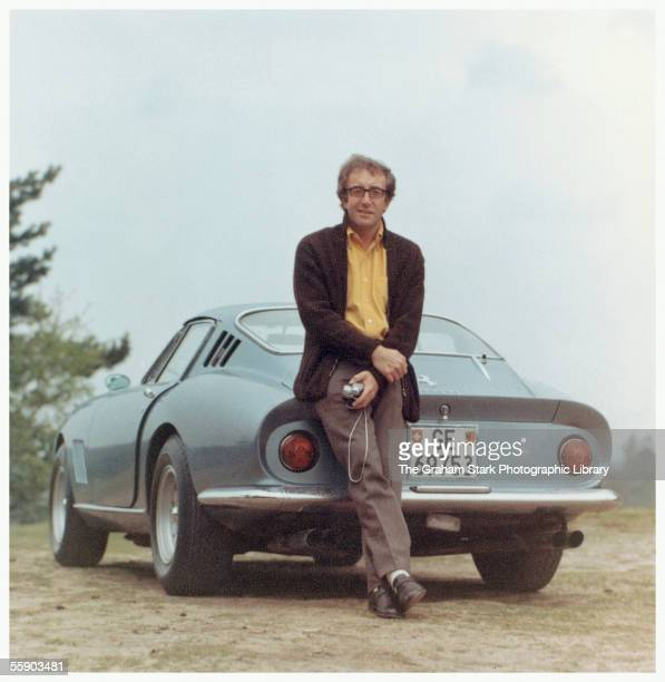 British comic actor Peter Sellers with his Ferrari 275 GTB circa 1965