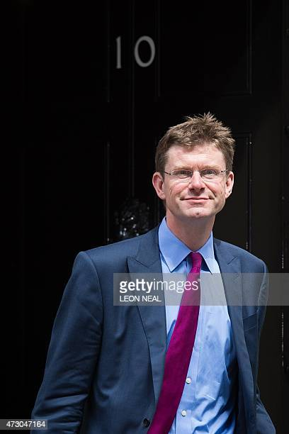 British Communities and Local Government Secretary Greg Clark leaves the first weekly cabinet meeting in Downing Street central London on May 12 2015...