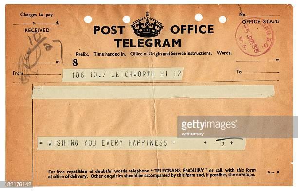 British congratulations telegram, 1935
