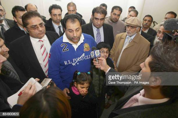 British Conservative MEP Sajjad Karim is interviewed as he arrives back at Manchester Airport Mr Karim was forced to flee to a 'safe' basement in...