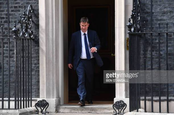 British Conservative Party politician David Gauke leaves No 10 Downing Street in central London on June 11 following his appointment as Secretary of...