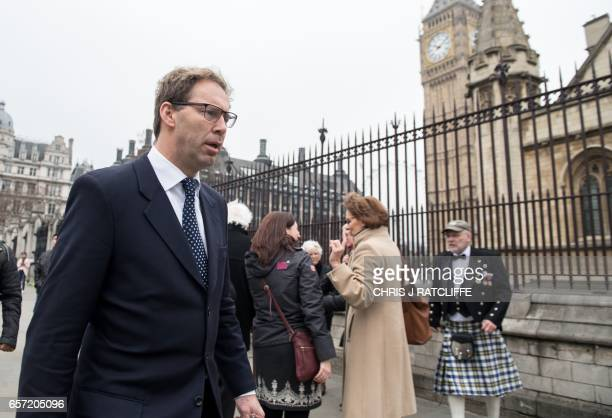 British Conservative Party politician Tobias Ellwood who gave first aid to the fatally wounded police officer Keith Palmer one of the casualties of...