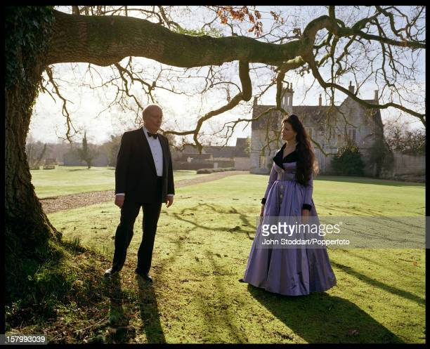 British Conservative peer and screenwriter Julian Fellowes Baron Fellowes of West Stafford with his wife Emma UK circa 2005