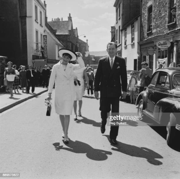 British conservative politician and diplomat Anthony Nutting fashion model Anne Gunning Twerton Devon UK 27th May 1961