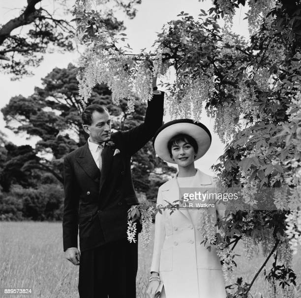 British conservative politician and diplomat Anthony Nutting marries fashion model Anne Gunning Twerton Devon UK 27th May 1961