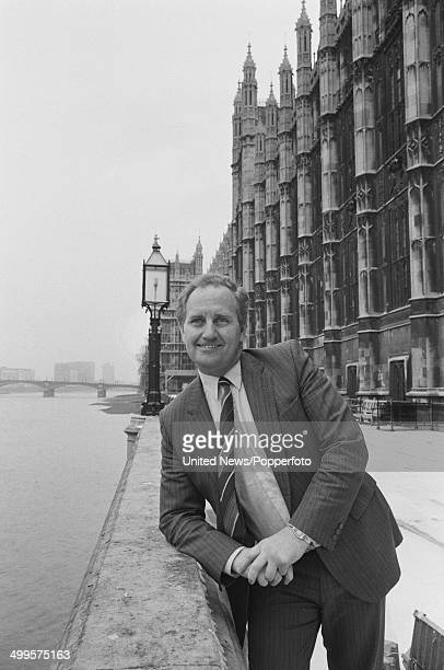 British Conservative politician and Member of Parliament Den Dover posed on the terrace at the Houses of Parliament in London on 15th January 1985