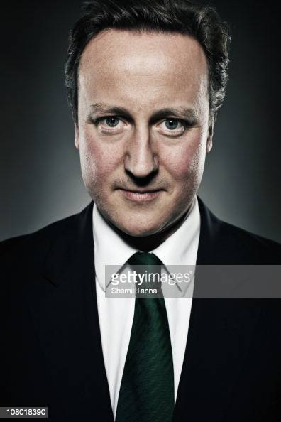 British Conservative politician David Cameron poses for a portrait shoot in London on January 8 2010