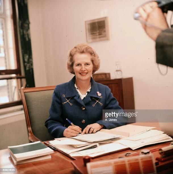 British conservative politician Margaret Thatcher