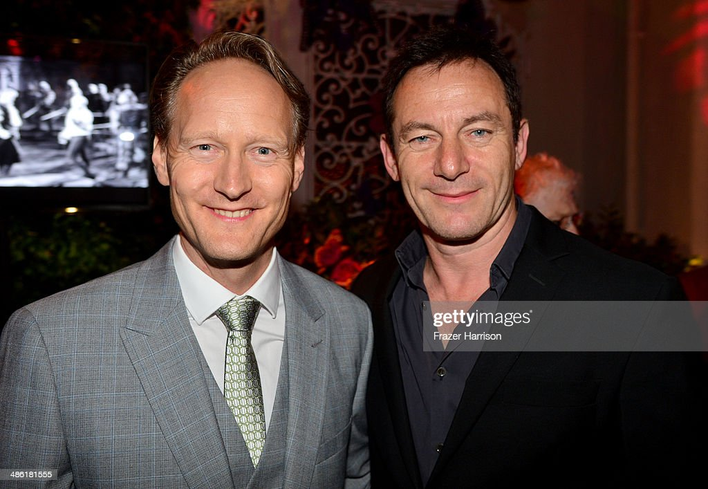 British Consul General Chris O'Connor (L) and actor Jason Isaacs attend the 8th Annual BritWeek Launch Party at a private residence on April 22, 2014 in Los Angeles, California.
