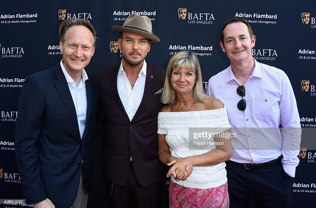 British Consul General Chris O'Connor singer Matt Goss Chantal Rickards BAFTA LA Chairman of the Board Kieran Breen attend BAFTA LA Garden Party on...