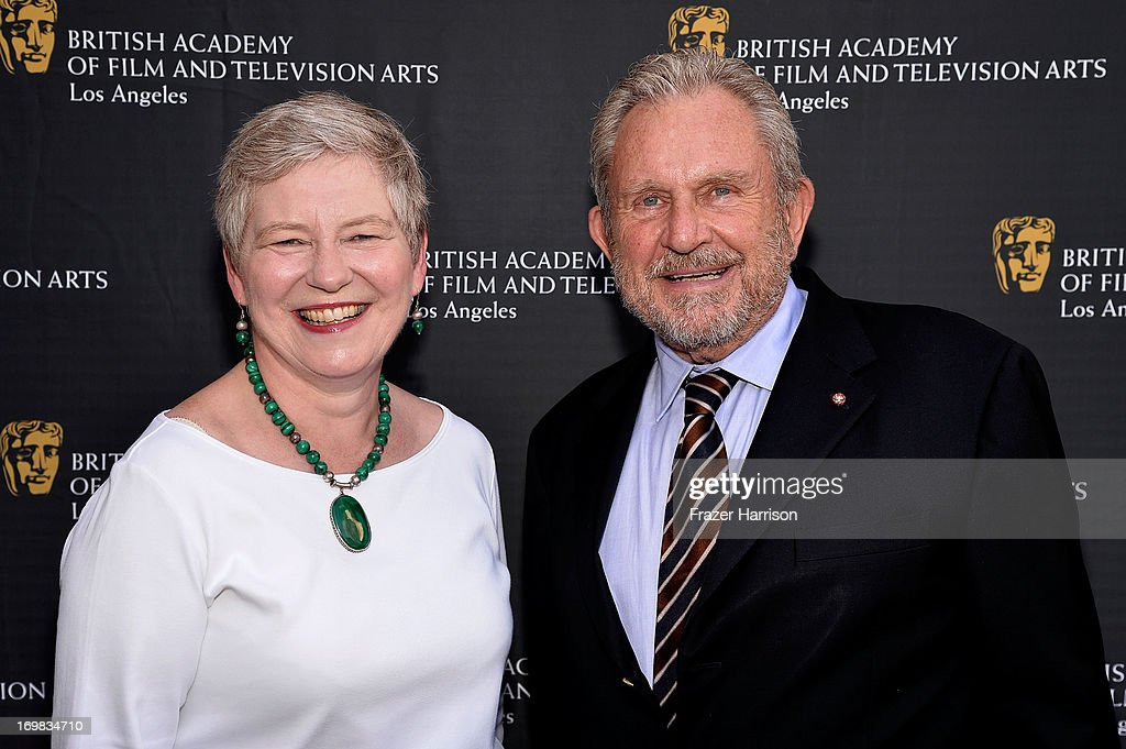 British Consul General Dame Barbara Hay and BAFTA Chairman Gary Dartnall attend the 26th Annual BAFTA LA Garden Party at the British Consuls General Residence on June 2, 2013 in Los Angeles, California.