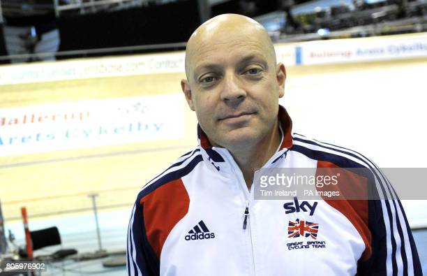 British Cycling's performance director Dave Brailsford during the World Track Cycling Championships at the Ballerup Super Arena Copenhagen Denmark