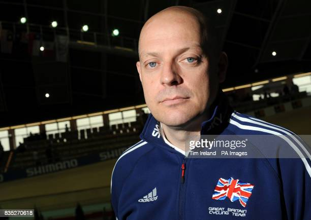 British Cycling's performance manager Dave Brailsford during the 2009 UCI World Track Cycling Championships at the BGZ Arena Velodrome in Pruszkow...