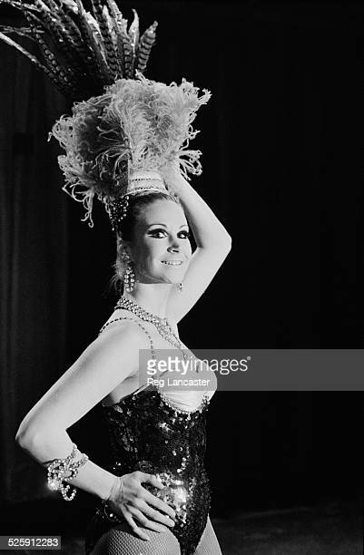 British dancer Lorelly Harris dancing rehearsing with the Bluebell Girls at the Lido Paris France 1969