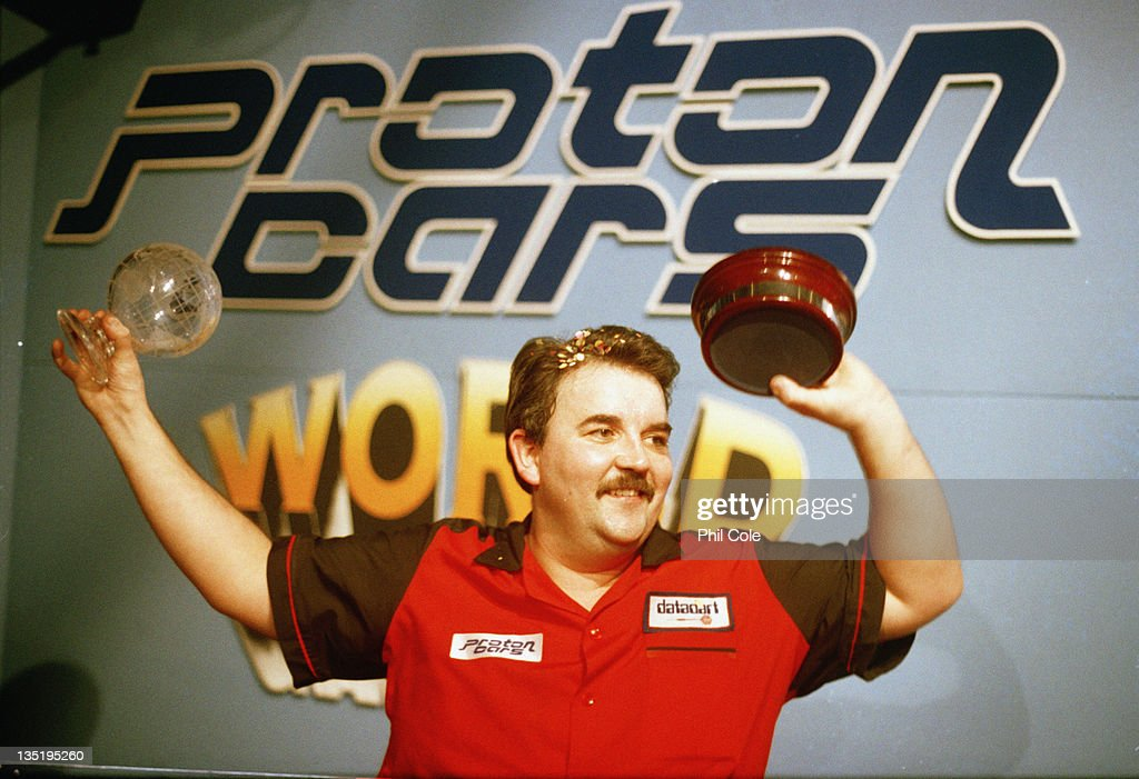 British darts player Phil Taylor wins the Proton Cars World Darts Championships in Purfleet Essex 2nd December 1995